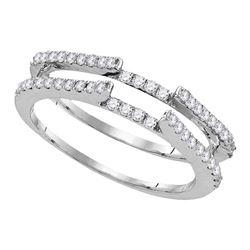 0.50 CTW Diamond Ring 14KT White Gold - REF-48Y7X