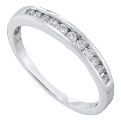 0.24 CTW Diamond Single Row Fashion Ring 14KT White Gold - REF-26N9F
