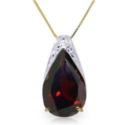 Genuine 5 ctw Garnet Necklace Jewelry 14KT Yellow Gold - REF-37W4Y