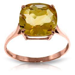 Genuine 3.6 ctw Citrine Ring Jewelry 14KT Rose Gold - REF-34Z7N