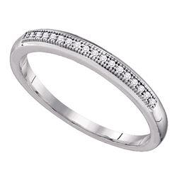 0.05 CTW Diamond Bridal Wedding Anniversary Ring 10KT White Gold - REF-8X9Y