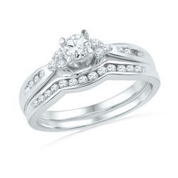 0.50 CTW Diamond Bridal Wedding Engagement Ring 10KT White Gold - REF-59W9K