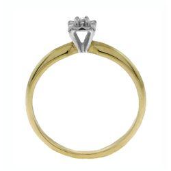 Genuine 0.03 ctw Diamond Anniversary Ring Jewelry 14KT White Gold - REF-30M2T