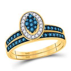 0.25 CTW Princess Black Color Diamond Ring 10KT Yellow Gold - REF-8H9M