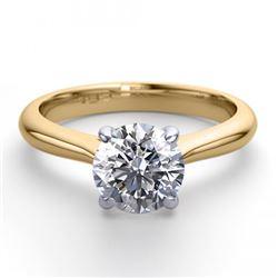 18K 2Tone Gold 1.24 ctw Natural Diamond Solitaire Ring - REF-383Z8F-WJ13253