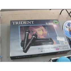 TRIDENT WIRELESS MICROPHONE SYSTEM