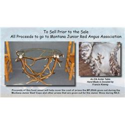 Lot - 1A - ELK ANTLER TABLE DONATION