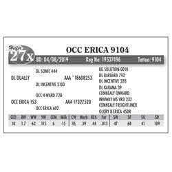 Lot - 27X - OCC ERICA 9104
