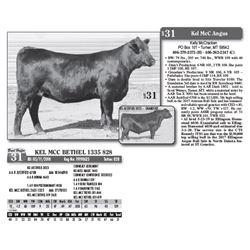 Lot - 31 - KEL MCC BETHEL 1335 828