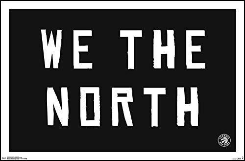 WE ARE THE NORTH - 22x34  Plaque. Toronto Raptors.