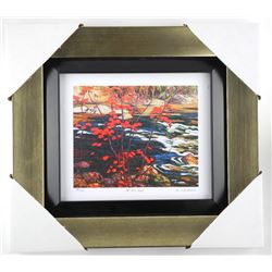"A.J. Jackson ""The Red Maple"" Limited Edition Studio Panel - Gallery Framed. Approx. 14x15""."