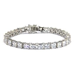 Ladies .925 Silver Swarovski Element Tennis Style Bracelet.
