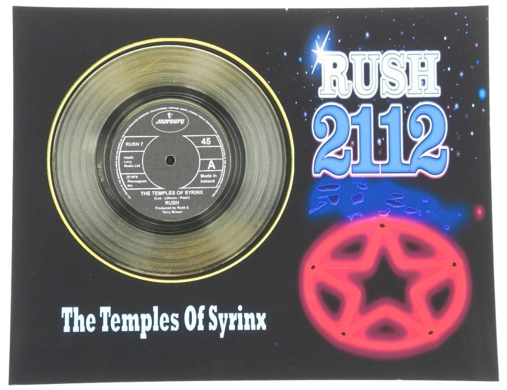 Rush  The Temples of Syrinx  Record Display. 11x14 .