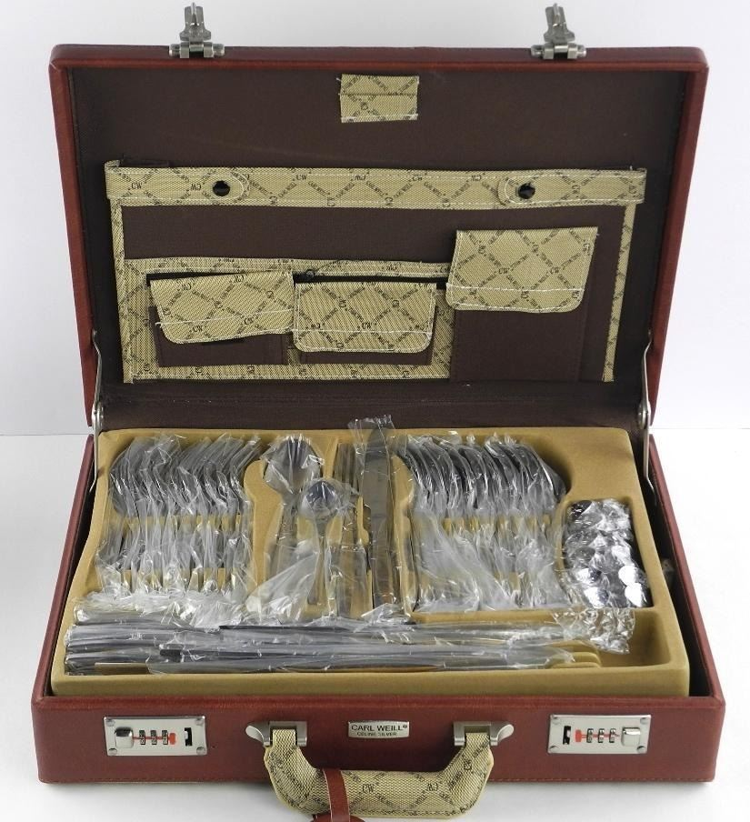 72pc Professional Cutlery Set in Briefcase. 18/10 Stainless Steel.