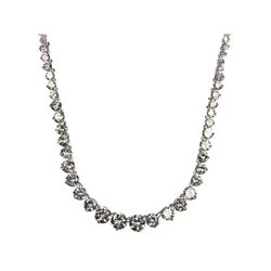 Ladies .925 Silver Graduating Necklace in Swarovski Elements.