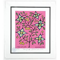 "Norval Morrisseau (1931-2007) ""Tree of Life"" Giclee. 11x13"". Certified and Bio Au Verso."