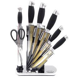 8pc Modern Knife Set with Stand.