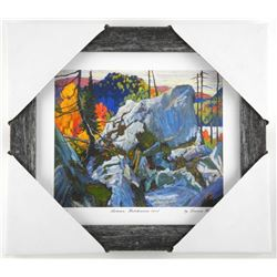 "Lawren Harris "" Autumn, Batohewana 1918"" Studio Panel - Gallery Framed. Approx. 10x11""."