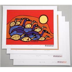 Norval Morrisseau (1931-2007) A Shaman's Vision - Folio Seven.