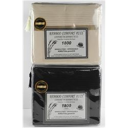 Pair of Bamboo Comfort Plus Sheet Sets. MSRP: $398.00. King Size.
