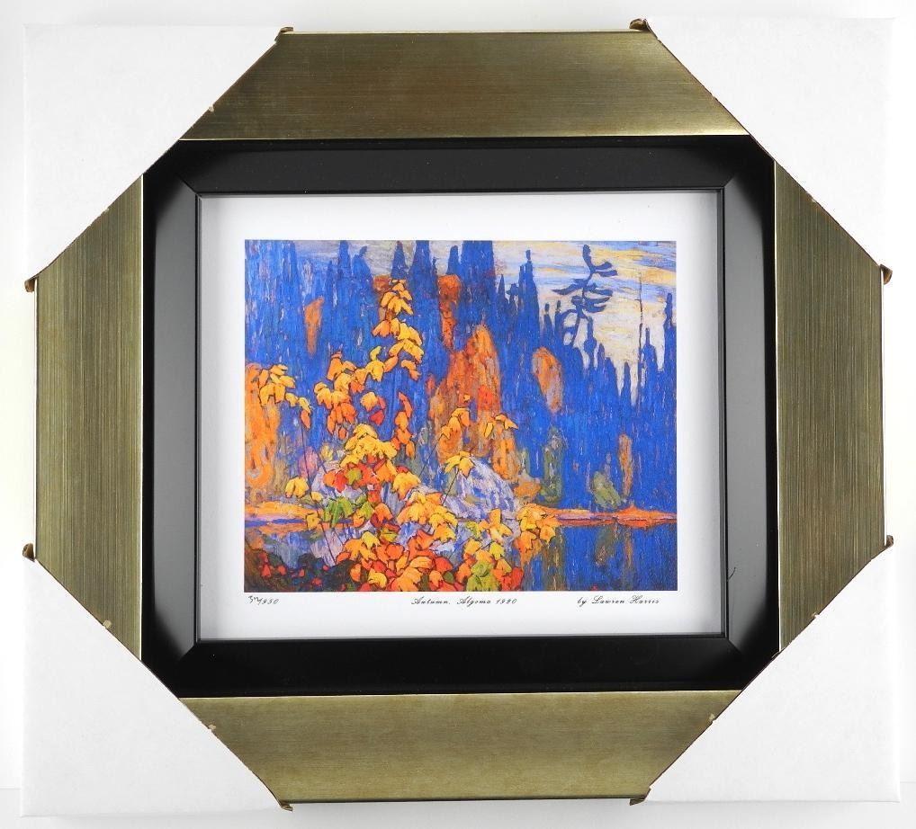 Lawren Harris  Autumn Algoma 1920  Limited Edition Studio Panel. Gallery Framed. Approx. 15x14 .
