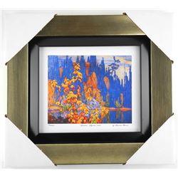"Lawren Harris ""Autumn Algoma 1920"" Limited Edition Studio Panel. Gallery Framed. Approx. 15x14""."
