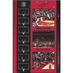 """The Shot"" Collage Plaque. K. Leonard. 22x34"". Toronto Raptors."