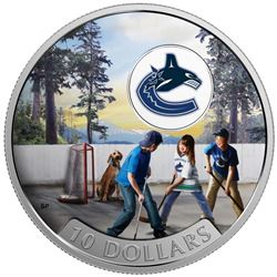 2017 $10 Passion to Play: Vancouver Canucks - Pure Silver Coin