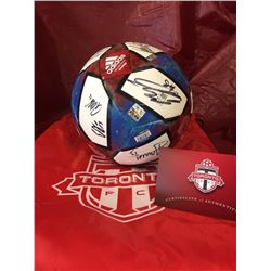 Toronto FC Soccer Ball, Full Team Autograph. Value $400.