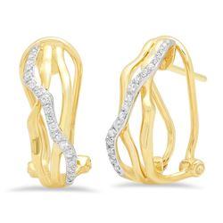 14k Gold 0.14CTW Diamond Earrings, (I1-I2/H-I)