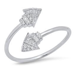 14K White Gold 0.19CTW Diamond Ring, (I1-I2/H-H)