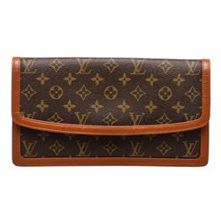 Louis Vuitton Monogram Canvas Leather Pochette Dame Clutch Bag