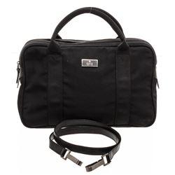Gucci Black Nylon Leather Trim Shoilder Bag