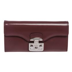 Gucci Purple Leather Padlock Continental WOC Bag