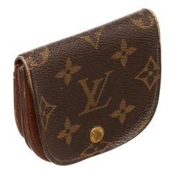 Louis Vuitton Monogram Canvas Leather Porte-Monnaie Gousset Coin Purse