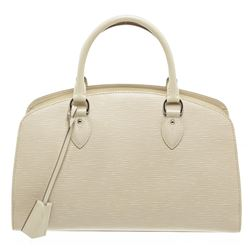 Louis Vuitton Ivory Off White Leather Pont Neuf PM Satchel Bag