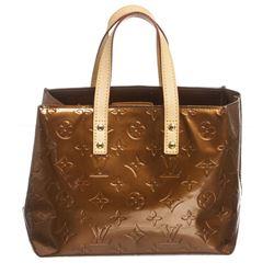 Louis Vuitton Bronze Vernis Leather Monogram Reade PM Bag