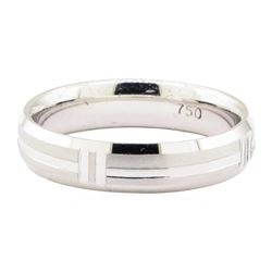 Half-Dome Comfort Fit Wedding Band - 18KT White Gold
