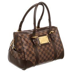 Louis Vuitton Damier Ebene Canvas Leather Berkeley Satchel Bag