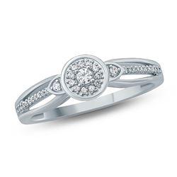 14K Yellow Gold 0.12CTW Diamond Ring, (I1-I1/H-I)
