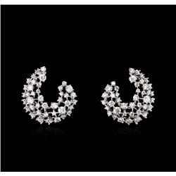 3.00 ctw Diamond Earrings - 14KT White Gold
