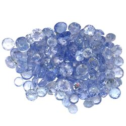 12.66 ctw Round Mixed Tanzanite Parcel