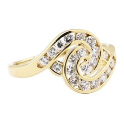 0.50 ctw Diamond Love Knot Ring - 14KT Yellow Gold