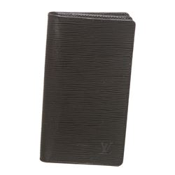 Louis Vuitton Black Epi Leather Checkbook Wallet
