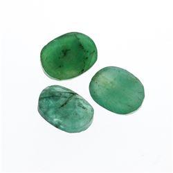 3.53 cts. Oval Cut Natural Emerald Parcel