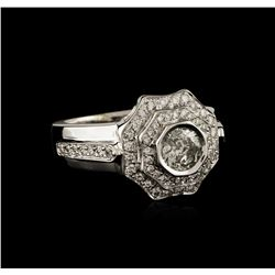 14KT White Gold 1.09 ctw Diamond Ring