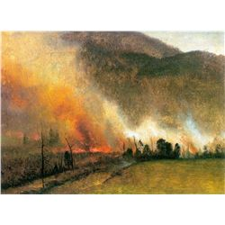 White Mountains, New Hampshire 1 by Albert Bierstadt