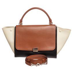 Celine Tricolor Leather Large Trapeze Bag