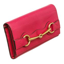 Gucci Hot Pink Leather Bright Bit Wallet