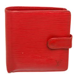 Louis Vuitton Red Epi Leather Porte-Billets Compact Wallet